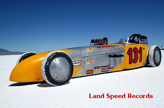 picture of land speed record race car