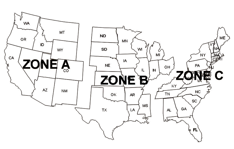 Autopower Shipping Zones