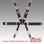 "6-Point Rotary CamLock Harness, Formula-Style, 2""/3"" Shoulders, 3"" Lap, Bolt-In, Simpson"