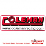 Coleman Racing Logo Decal - Large