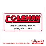 Coleman Racing Logo Decal - Small
