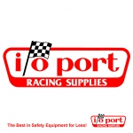 I/O Port Racing Supplies Logo Decal - 8-1/2 x 3-1/4