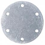 "2-15/16"" Bolt Circle Blank Aluminum Plate, Fuel Safe"