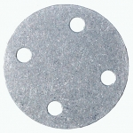 "1-5/8"" Bolt Circle Blank Aluminum Plate, Fuel Safe"