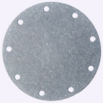 "4"" Bolt Circle Blank Aluminum Plate, Fuel Safe"