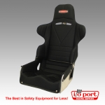 Adjustable Layback Road Race 65-Series Seat Kit with Black Cover, Kirkey