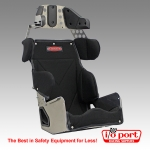 Standard 20° Road Race Containment Seat with Black Cover, Kirkey
