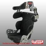 Deluxe 10° Layback Containment Sprint Car Seat Kit with Black Cover, Kirkey