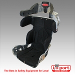 Intermediate 10° Layback Containment Seat with Black Cover, 89-Series, Kirkey