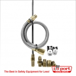 "Hydraulic clutch line kit - 36"" for suspended pedals, Longacre"
