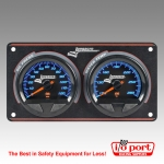 SMi™ Elite Waterproof Gauge Panel, 2 Gauge Oil Pressure/Water Temperature, Longacre