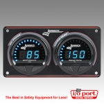 Digital Elite Waterproof Gauge Panel, 2 Gauge Oil Pressure/Water Temperature, Longacre