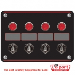 4 Accessory switch panel with 4 pilot lights, Longacre