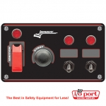 Flip-up Start / Ignition panel w/ 2 acc & pilot lights, Longacre