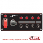 Flip-up Start / Ignition panel w/ 4 acc & pilot lights, Longacre