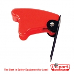 Red Aircraft Style Flip-up Safety Cover, Longacre