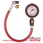 "Liquid Filled 2½"" GID Tire Gauge 0-45 by ½ lb, Longacre"