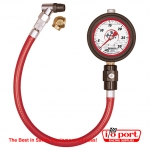 "Liquid Filled 2½"" GID Tire Gauge 0-30 by ½ lb, Longacre"