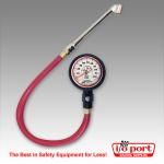 "Deluxe 2 ½"" GID Tire Gauge 0-100 by 1 lb with 'Foot' Valve, Longacre"