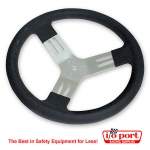 13-inch Steering Wheel - Aluminum - smooth grip, Longacre