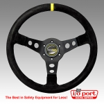 Dished Steering Wheel, 350mm, Racetech