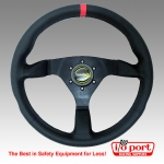 Flat Leather Wheel - 350mm, Racetech